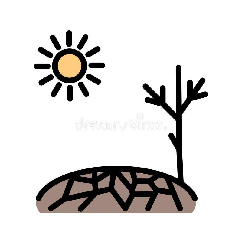 Icona di vettore di siccità illustrazione di stock