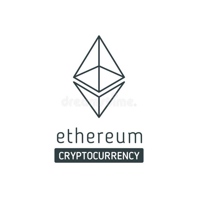 Icona di vettore di simbolo di Ethereum illustrazione vettoriale