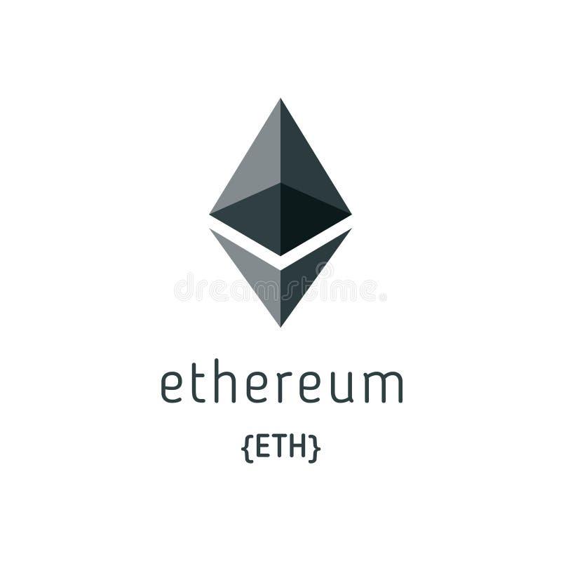 Icona di vettore di simbolo di Ethereum illustrazione di stock