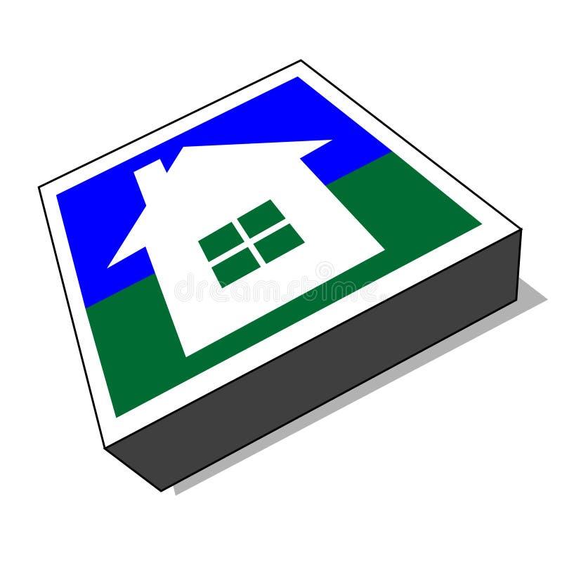 Icona di vettore/tasto domestici (vettore) royalty illustrazione gratis