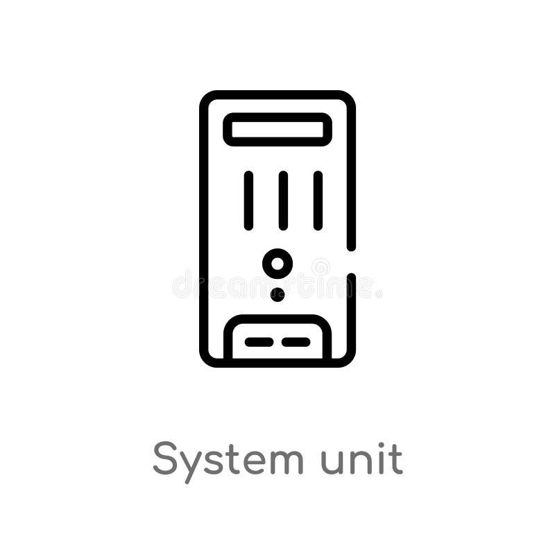 icona di vettore di unità del sistema del profilo r Colpo editabile di vettore illustrazione di stock