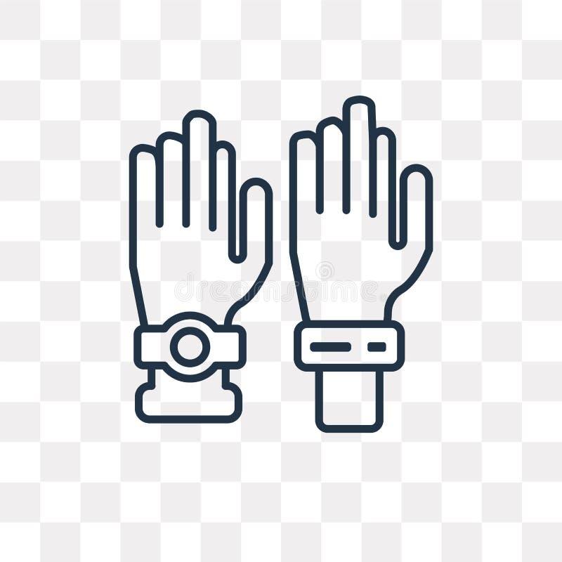 Icona di vettore di voto isolata su fondo trasparente, voto lineare royalty illustrazione gratis