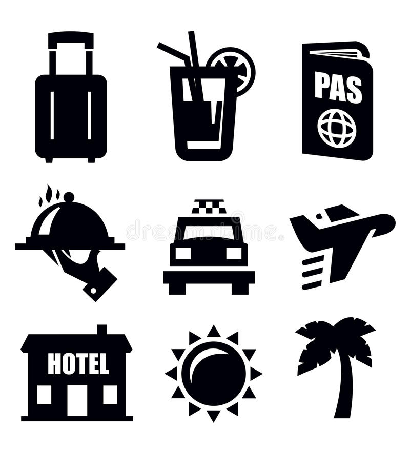 Icona di viaggio illustrazione di stock