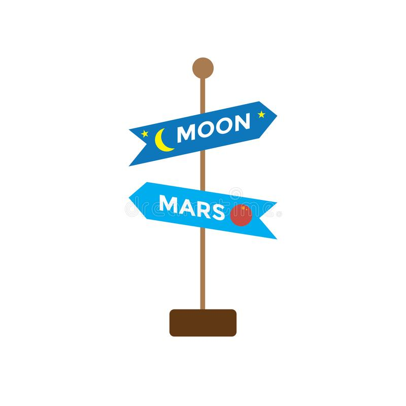 Icona di viaggio nello spazio - segno - turismo a spazio cosmico - esplorazione royalty illustrazione gratis