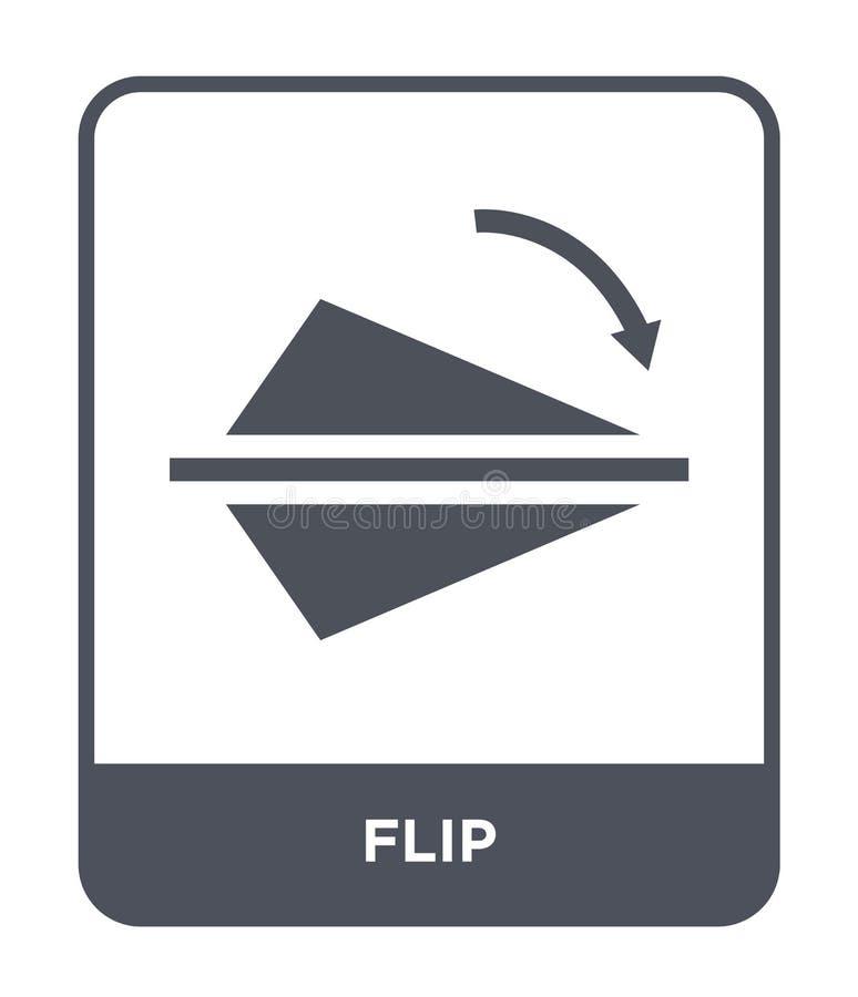 icona di vibrazione nello stile d'avanguardia di progettazione Flip Icon Isolated su fondo bianco simbolo piano semplice e modern royalty illustrazione gratis