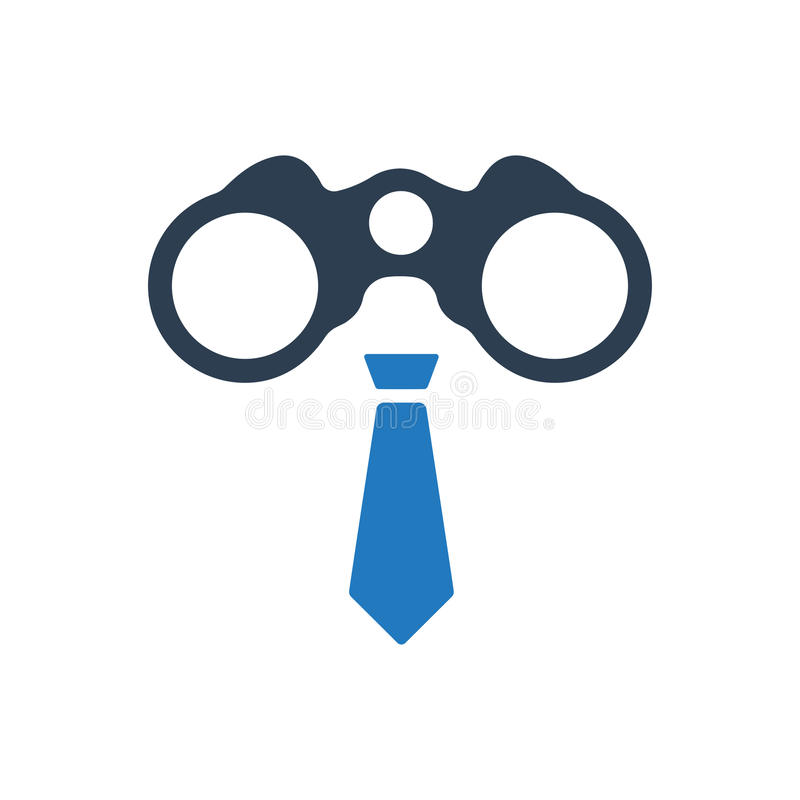 Icona di visione di affari illustrazione di stock