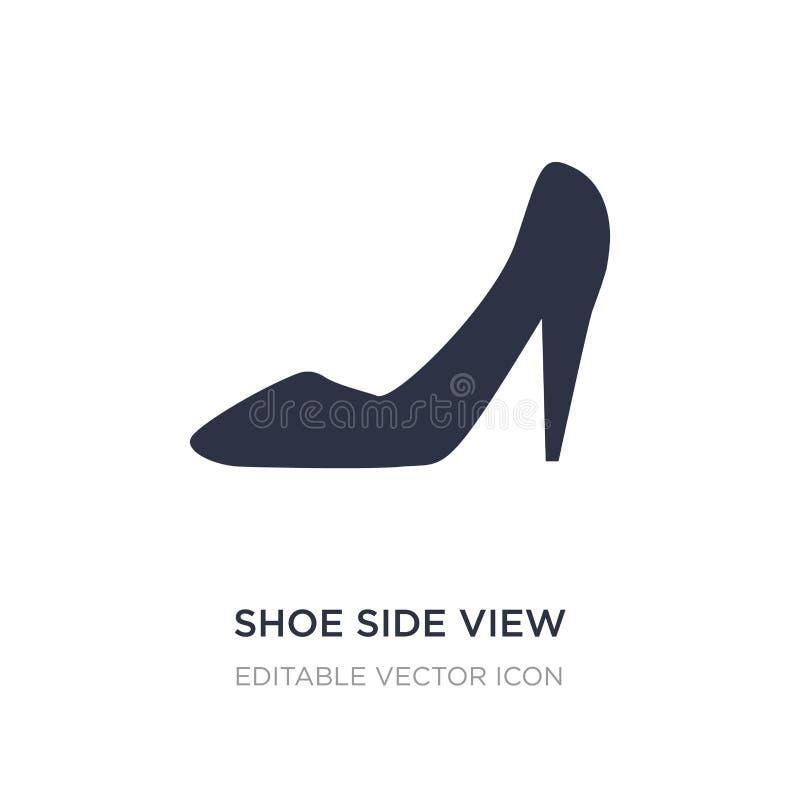 icona di vista laterale della scarpa su fondo bianco Illustrazione semplice dell'elemento dal concetto di modo royalty illustrazione gratis