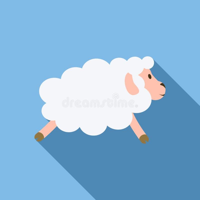 Icona di vista laterale delle pecore, stile piano royalty illustrazione gratis