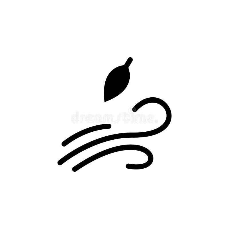 Icona di vita del vento Elemento dell'illustrazione del tempo I segni ed i simboli possono essere usati per il web, logo, app mob royalty illustrazione gratis