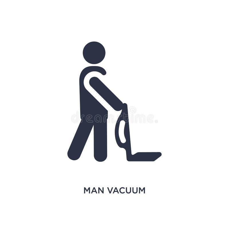 icona di vuoto dell'uomo su fondo bianco Illustrazione semplice dell'elemento dal concetto di comportamento illustrazione di stock