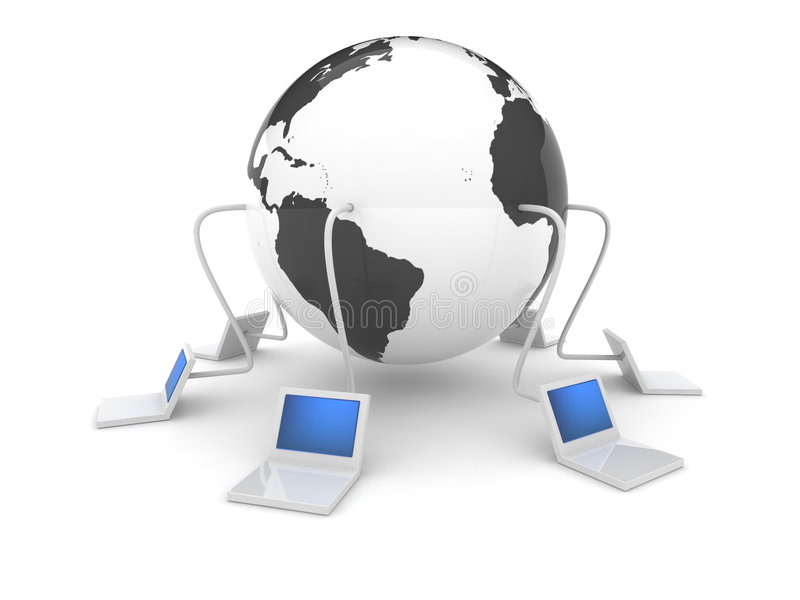 icona di Web 3d - Internet fotografia stock