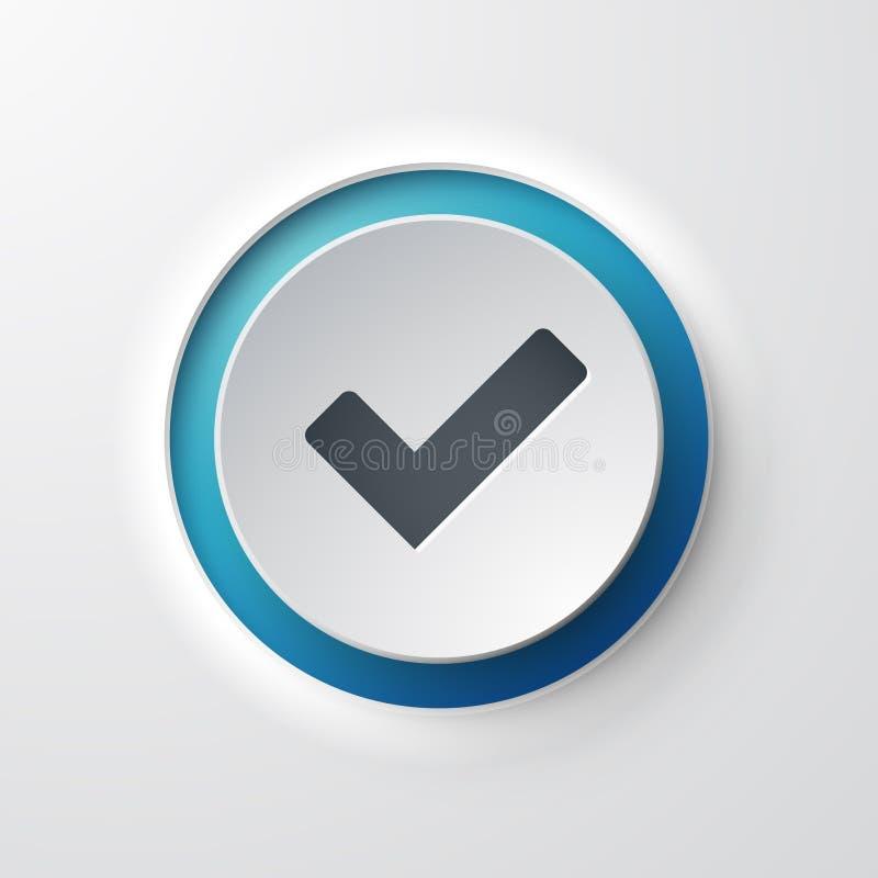 Icona di web di convalida illustrazione di stock
