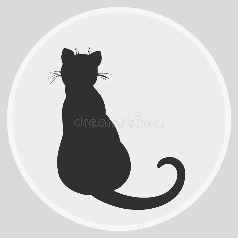 Icona di web del gatto illustrazione vettoriale