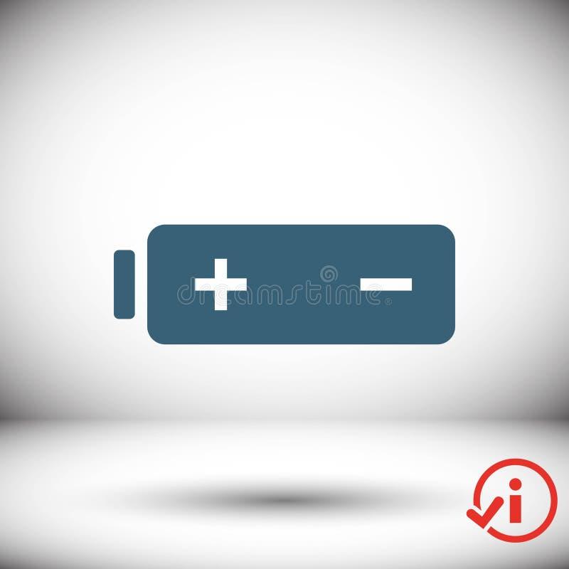 Icona di web della batteria, progettazione piana dell'illustrazione di vettore delle azione dell'icona della batteria illustrazione vettoriale