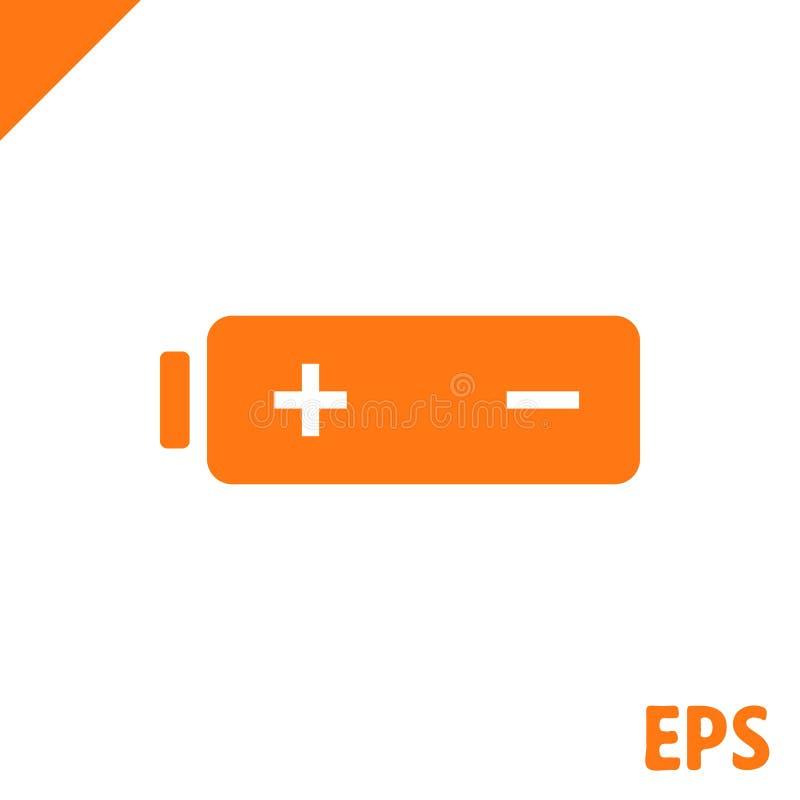Icona di web della batteria, progettazione piana dell'illustrazione di vettore delle azione dell'icona della batteria royalty illustrazione gratis