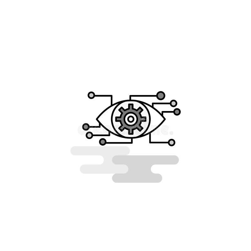 Icona di web della regolazione dell'occhio La linea piana ha riempito Gray Icon Vector illustrazione vettoriale
