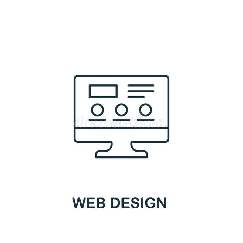 Icona di web design r Icona creativa di web design per web design royalty illustrazione gratis