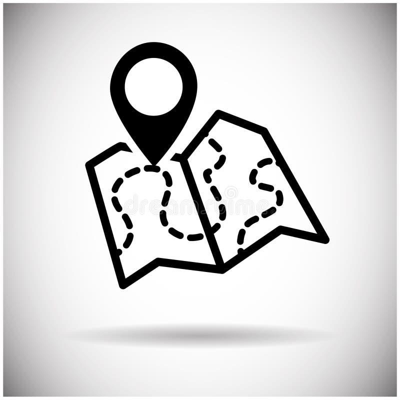 Icona di web di navigazione della mappa illustrazione vettoriale