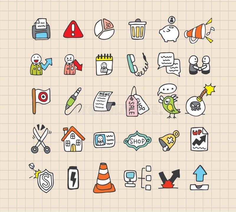 Icona di Web di tiraggio della mano illustrazione vettoriale