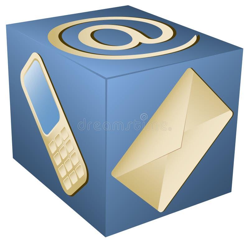 Icona di Web per il contatto Info illustrazione vettoriale