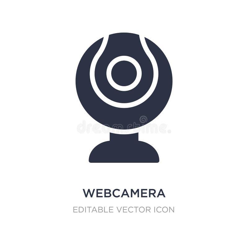icona di webcamera su fondo bianco Illustrazione semplice dell'elemento dal concetto del computer illustrazione vettoriale