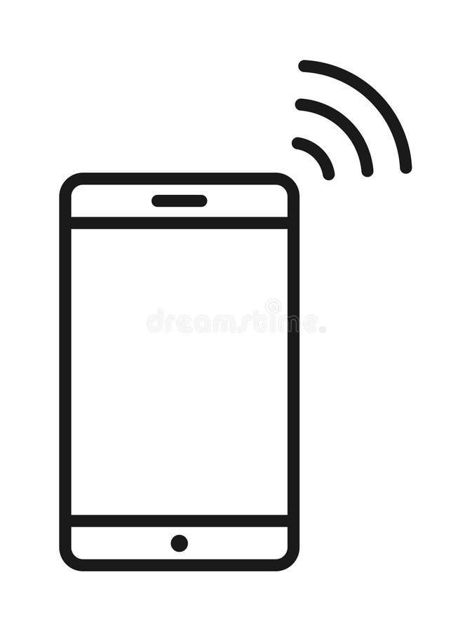 Icona di wifi del telefono cellulare illustrazione di stock