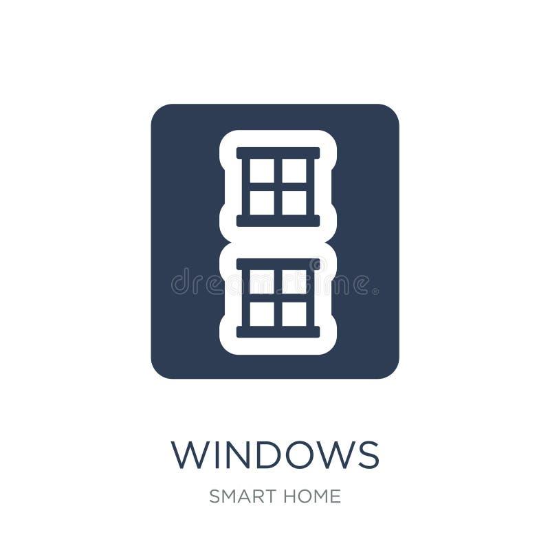 Icona di Windows Icona piana d'avanguardia di Windows di vettore su backgroun bianco royalty illustrazione gratis