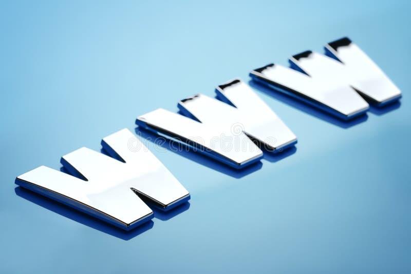 Icona di World Wide Web fotografie stock
