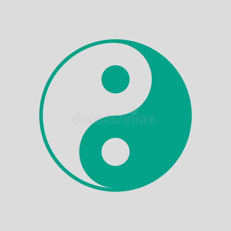 Icona di Yang e di Yin illustrazione di stock