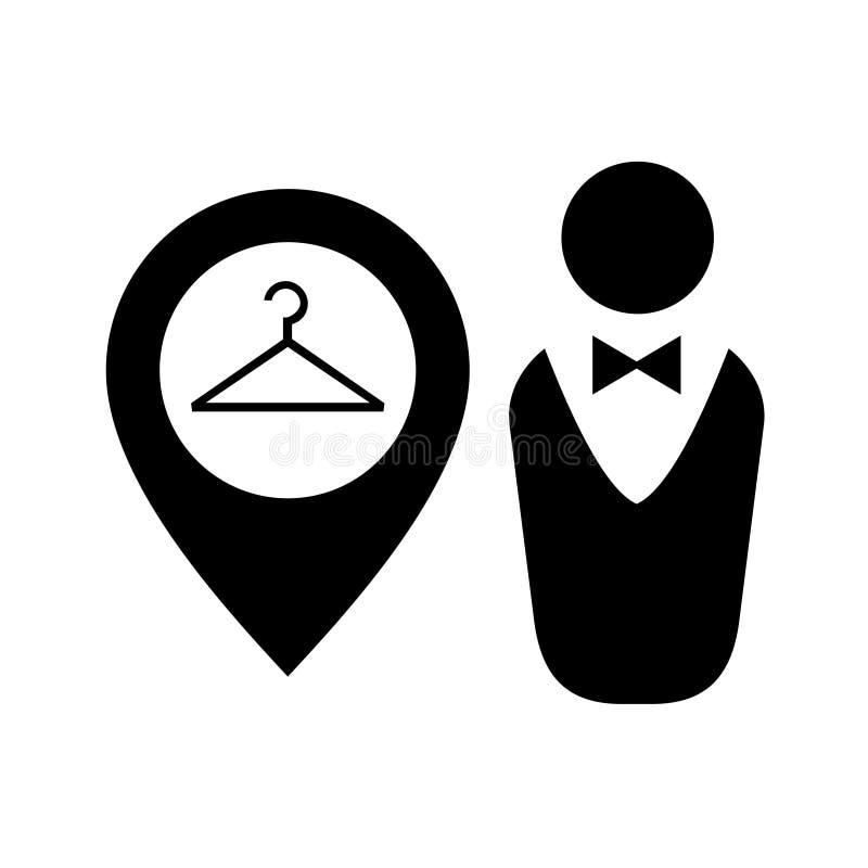 Icona di zona del guardaroba royalty illustrazione gratis