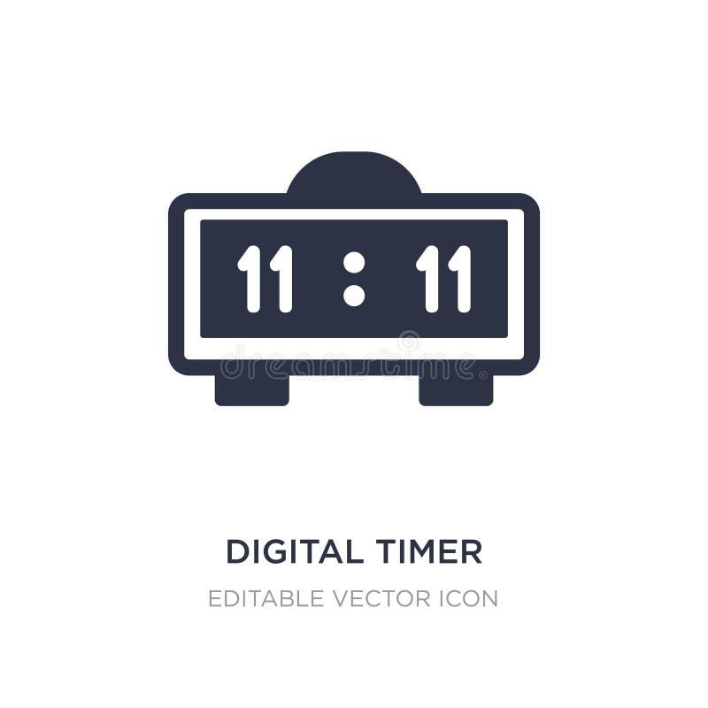 icona digitale del temporizzatore su fondo bianco Illustrazione semplice dell'elemento dal concetto di istruzione royalty illustrazione gratis