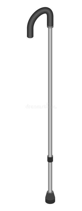 Icona diritta del bastone, stile isometrico illustrazione di stock