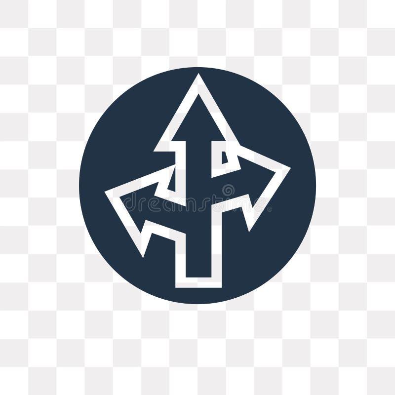 Icona diritta di vettore isolata su fondo trasparente, Straigh illustrazione di stock