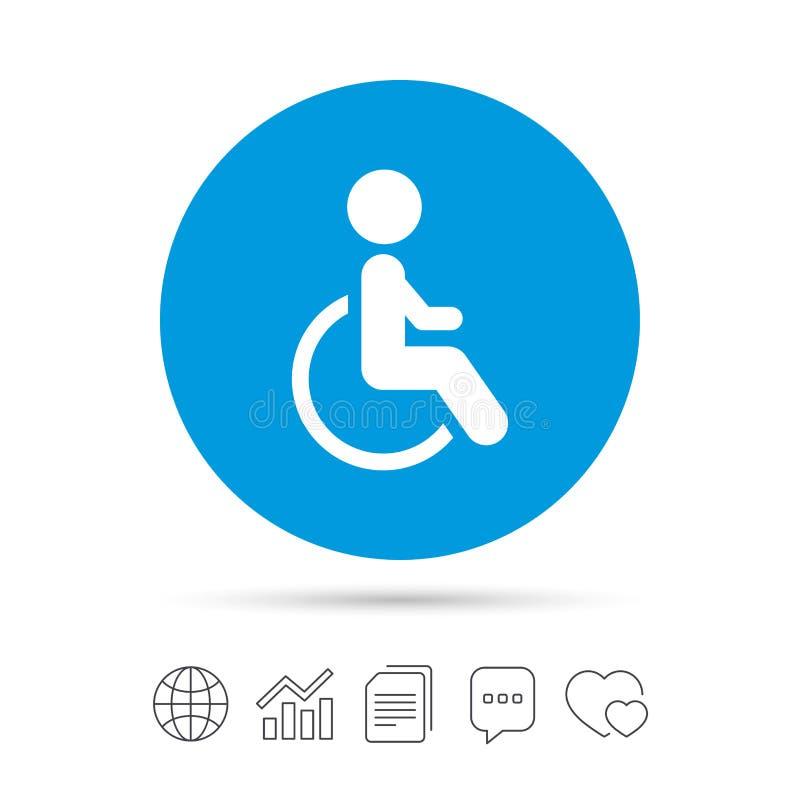 Icona Disabile Del Segno Essere Umano Sul Simbolo Della