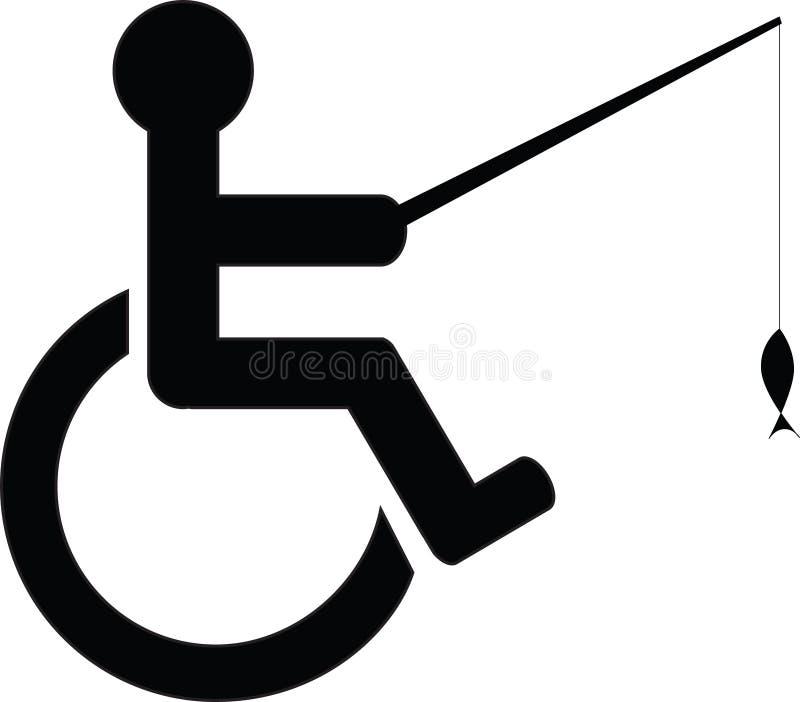 Icona disabile di pesca illustrazione vettoriale