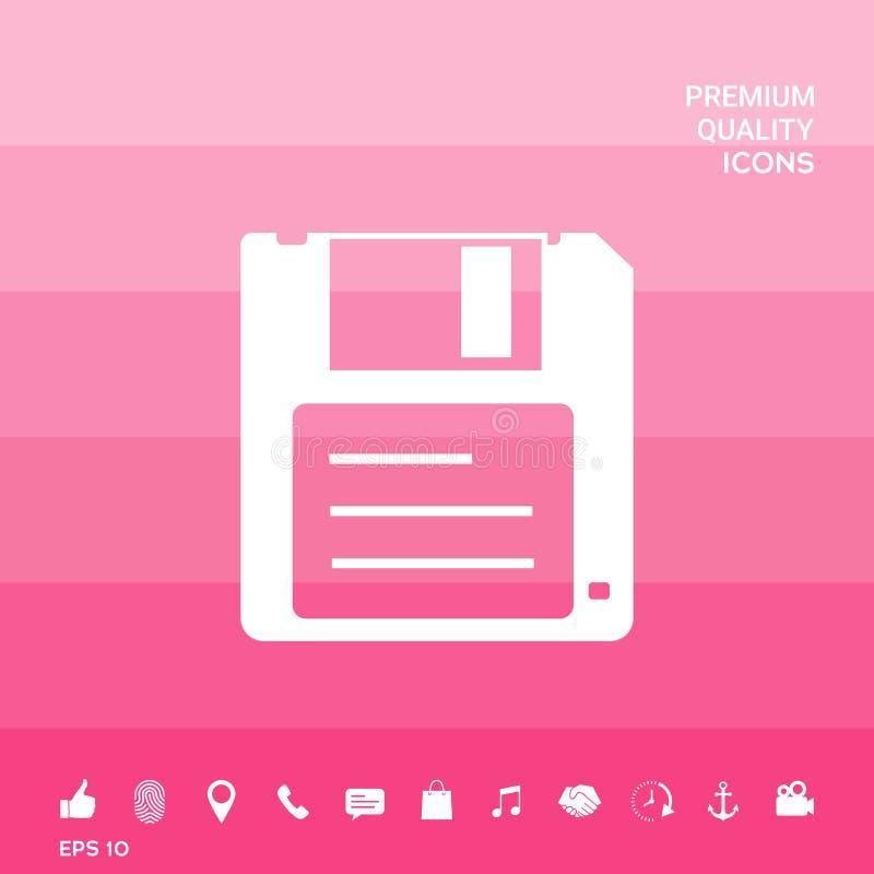Icona a disco magnetico illustrazione di stock