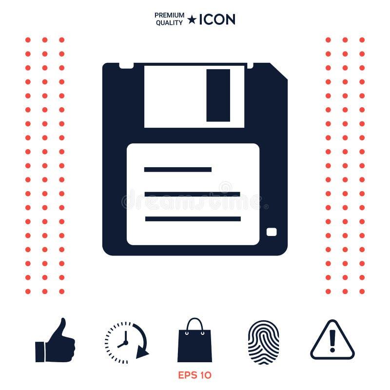 Download Icona a disco magnetico illustrazione vettoriale. Illustrazione di elettronico - 117975073