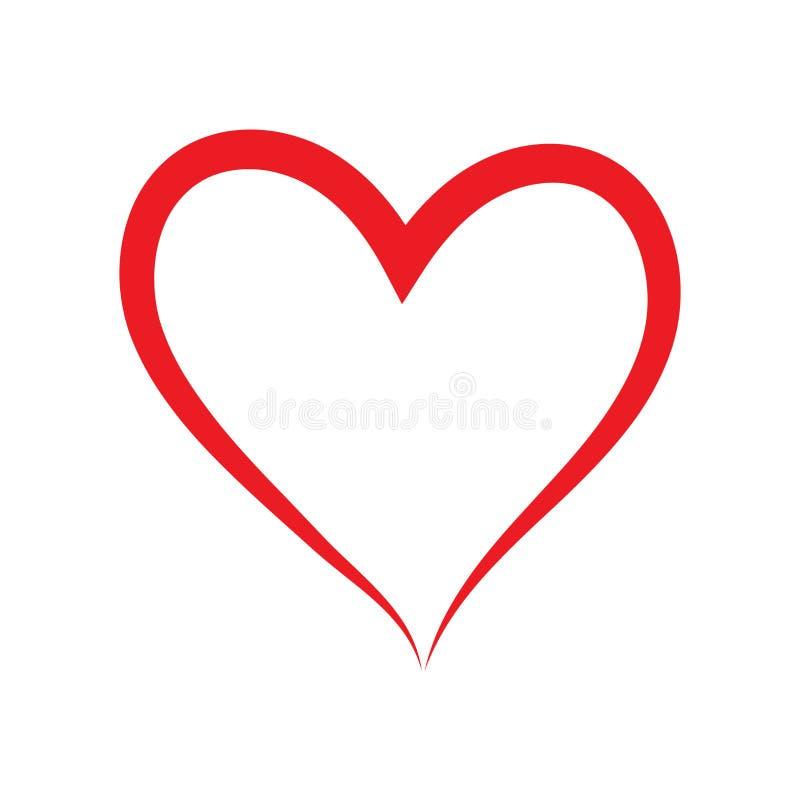 Icona disegnata a mano di vettore del cuore illustrazione vettoriale