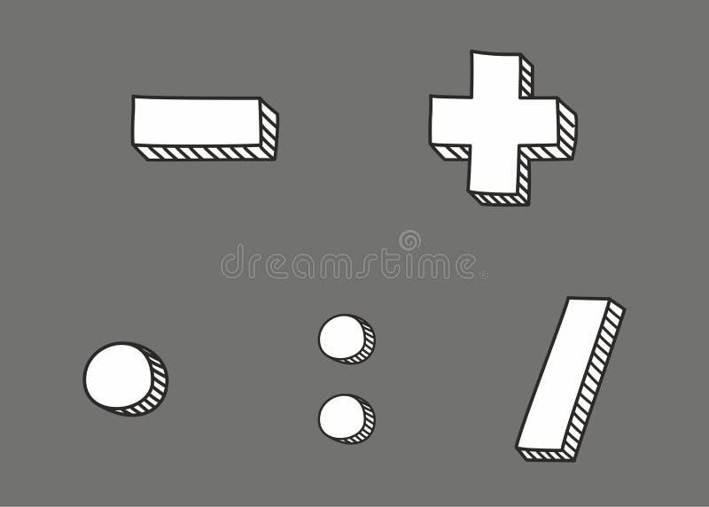 Icona disegnata a mano isolata su fondo grigio royalty illustrazione gratis