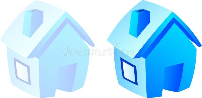 Icona domestica. illustrazione di stock