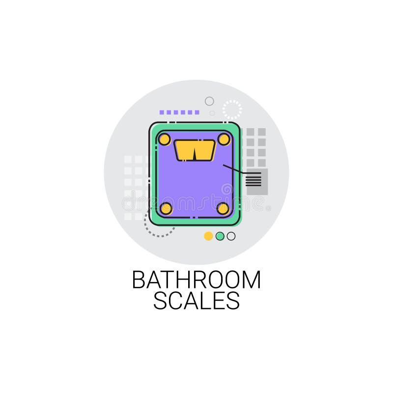Icona domestica del controllo del peso della bilancia pesa-persone illustrazione vettoriale