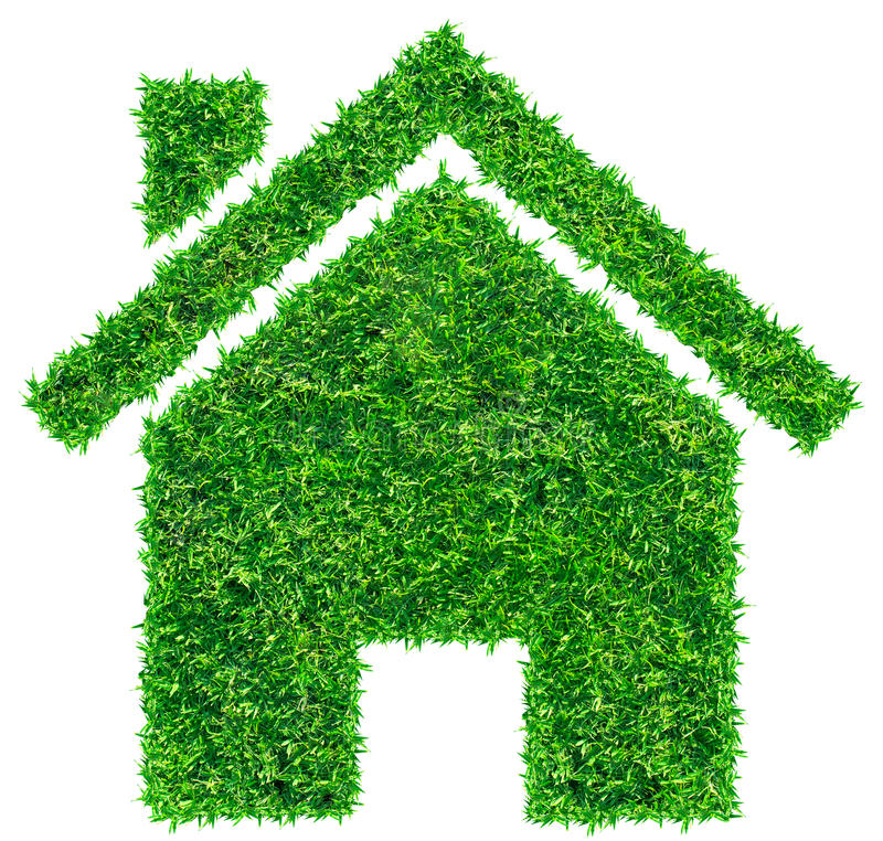 Icona domestica dell'erba fotografia stock libera da diritti