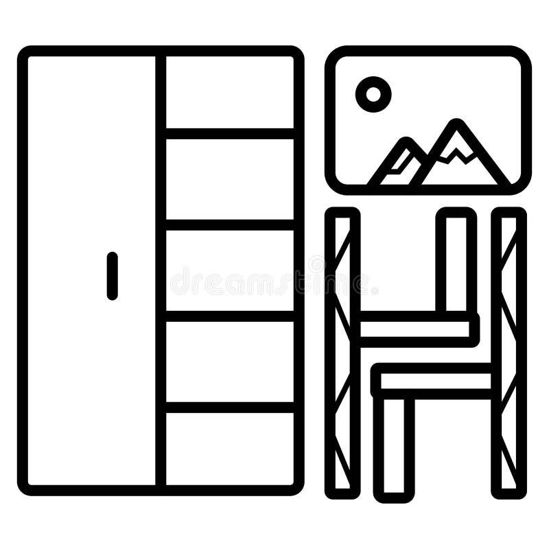Icona domestica della mobilia illustrazione vettoriale