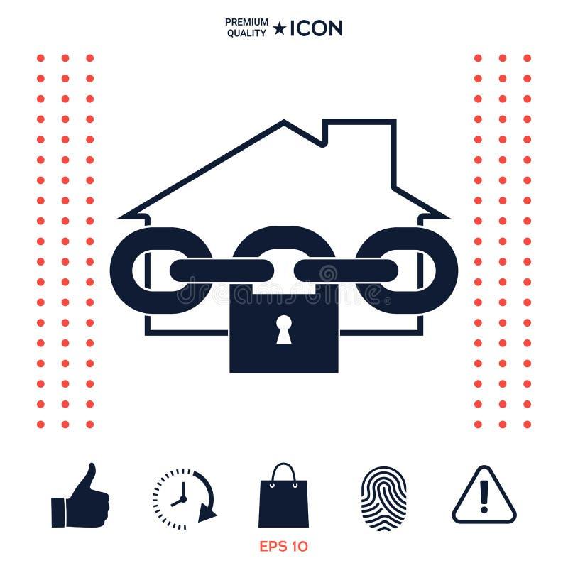Download Icona Domestica Della Serratura Illustrazione Vettoriale - Illustrazione di proprietà, casa: 117975598