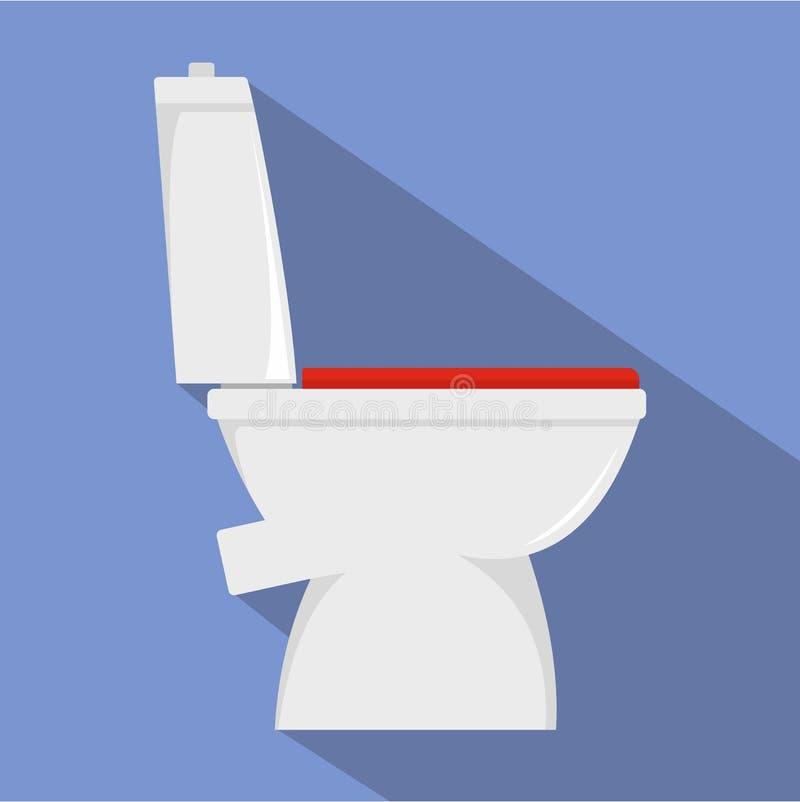 Icona domestica della toilette, stile piano royalty illustrazione gratis