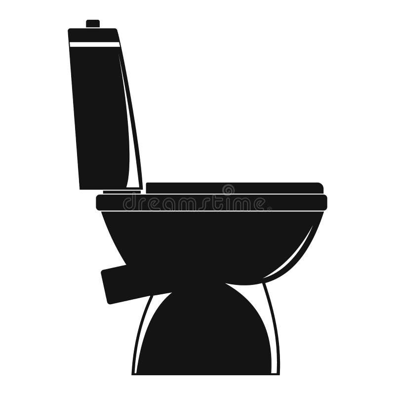 Icona domestica della toilette, stile semplice illustrazione vettoriale