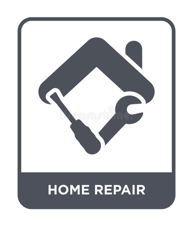 icona domestica di riparazione nello stile d'avanguardia di progettazione icona domestica di riparazione isolata su fondo bianco  illustrazione vettoriale