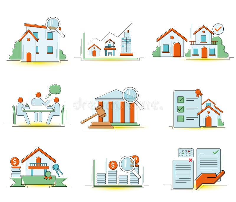Icona domestica di web [fresca e calda] isolata su fondo bianco illustrazione vettoriale