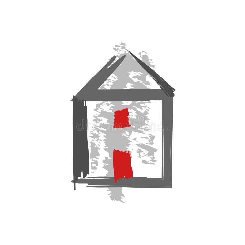 Icona domestica, vettore di restructuration isolata illustrazione vettoriale