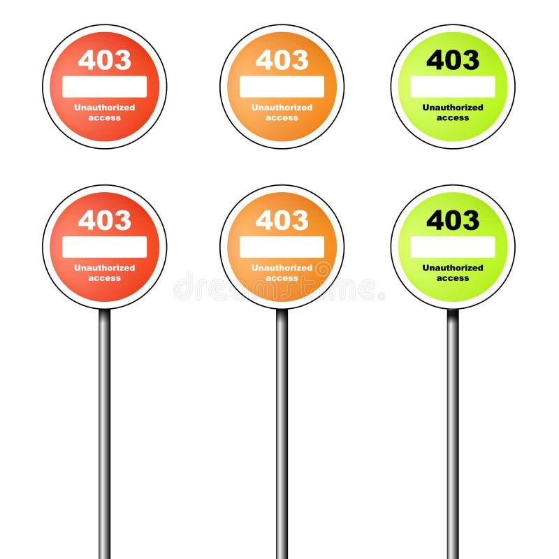 Icona e segno di errore 403 royalty illustrazione gratis
